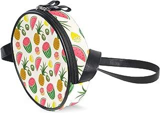Womens Crossbody Bags Pineapple Kiwi Watermelon Lemon Girls Cute Shoulder Bag