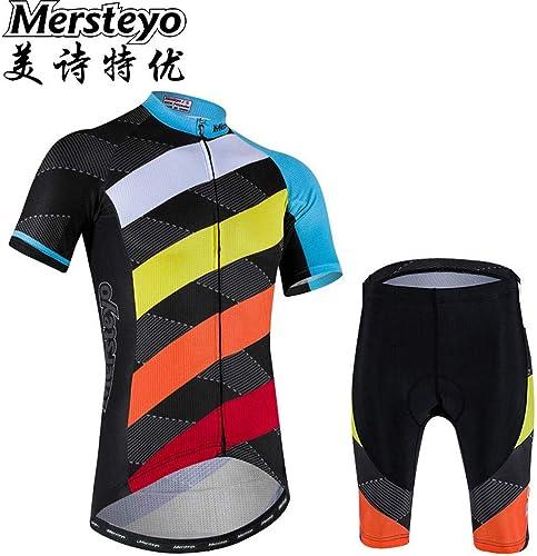 Jersey Maillot De Cyclisme Ensemble VêteHommests De Vélo courtes pour Hommes Vélo Shirt à Manches Courtes Cyclisme Suit Sportswear L