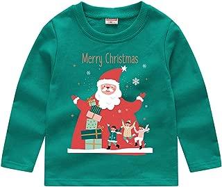DOLYKUI 0-8 Years Kids Tops, Toddler Baby Kids Boys Girls Christmas Snowman Sweatshirt Pullover Tops T-shirt