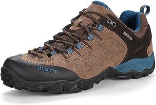 HUMTTO المشي لمسافات طويلة للرجال الانزلاق أحذية تسلق خفيفة الوزن المشي المشي الرحلات، تنفس الأحذية الرياضية