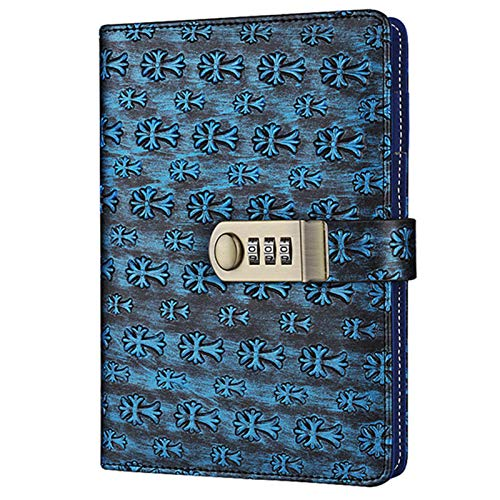 TTYYNN cuadernoCuaderno con código de bloqueo Diario personal de negocios Bloc de notas grueso 100 hojas de papel oficina material escolar regalo