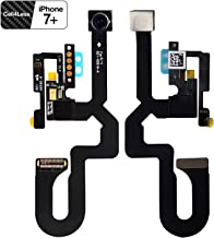 CELL4LESS Front Facing iPhone Compatible Camera with Sensor Proximity Light + Microphone Flex Cable (iPhone 7 Plus)