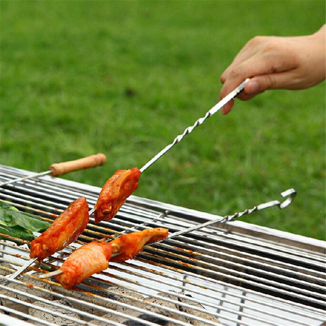 Ranking TOP2 XYSQWZ Attention brand 10 Pcs BBQ Skewers Steel Grill Barbecue Stainless Sticks