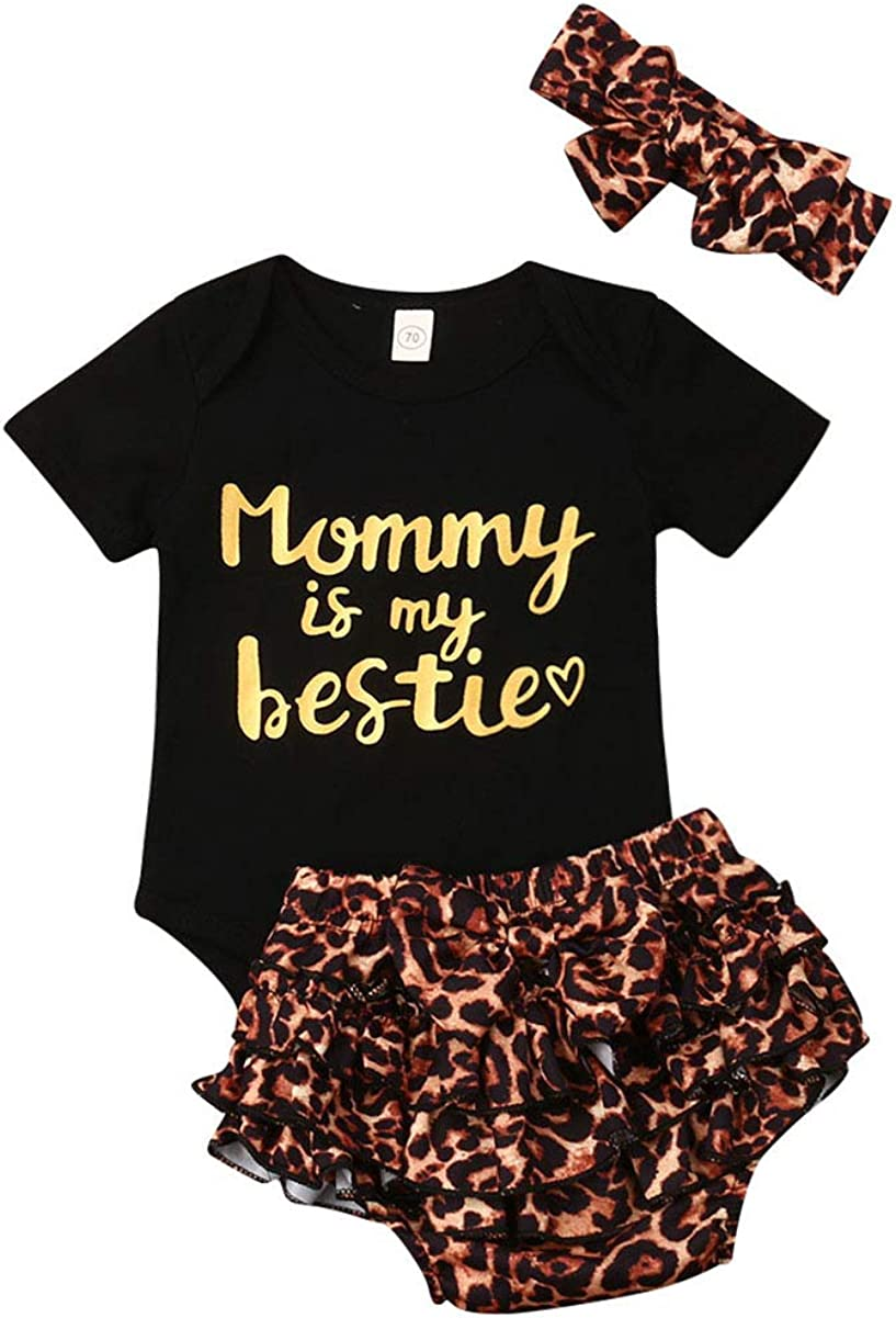 """Newborn Baby Girls Clothes National uniform free shipping Virginia Beach Mall Floral """"Mommy My is bestie"""""""