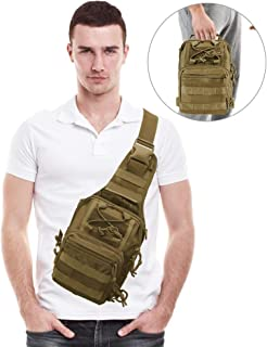 AIRRSSON Tactical Shoulder Sling Backpack,Military Sport Pack,Fishing Bag,Chest Pack for Men Rover Sling Pack Trekking Hunting