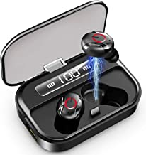 True Wireless Earbuds, Bluetooth 5.0 in-Ear HiFi Earphone with Mic, 90 Hrs Playtime with 2200mAh Big Capacity Charging Cas...