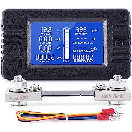 Pemenol Multifunktions Messgerät Dc 5v 38v Lcd Voltmeter Amperemeter Mit Digital Bildschirm Für Testen Spannungs Strom Batteriekapazität Leistungs Lade Und Entladezeitregler Und Entladekapazitätregler Baumarkt