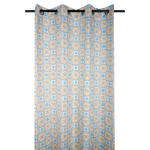 marque STOF Rideau à œillets 140x260 Amarilla Bleu