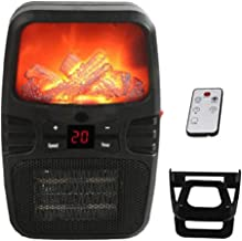 SEESEE.U Calentador eléctrico portátil con Pantalla LED, Mini Calentador doméstico de Escritorio, Estufa, máquina de radiador para Oficina y hogar, 110-220 V