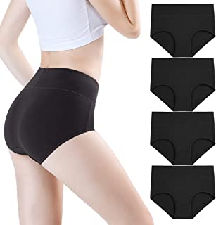 Women's Bamboo Underwear Modal Microfiber Briefs Soft Stretchy High Waist Full Coverage Panties Multipack