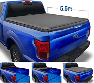 Tyger Auto T1 Roll Up Truck Tonneau Cover TG-BC1F9022 Works with 2009-2014 Ford F-150 (Excl. Raptor Series) | Styleside 5.5' Bed | for Models Without Utility Track System