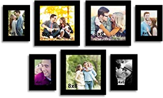 Happy Hopes Art Street Set of 7 Individual Photo Frame - Size 4x6, 8x8x