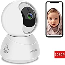 Peteme Baby Monitor 1080P FHD Home WiFi Security Camera Sound/Motion Detection with Night..