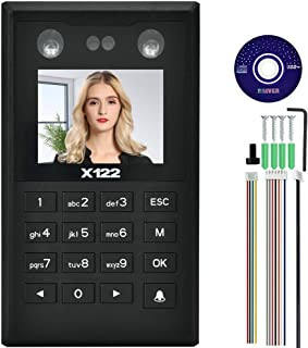 PBZYDU Door Access Card Reader, 2.8in TFT Face Palmprint Time Attendance Wiegand26 Access Control Machine(X122 with TCP/IP)