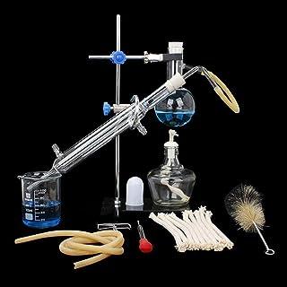 معمل كيميائي صغير زجاجي معمل، أدوات زجاجية لمختبر المياه، معدات تعليمية تقطير العلوم الصناعية مناسبة للأبحاث الانجابية