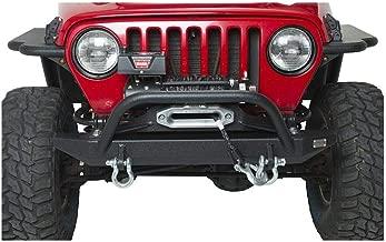 Fishbone Offroad FB22048 Jeep Front Bumper W/Winch Guard 97-06 Wrangler TJ Rubicon and Unlimited Steel Black Textured Powdercoat Piranha Series