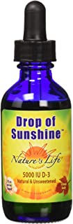 Nature's Life Drop of Sunshine Vitamin D-3 Drops in Organic Extra Virgin Olive Oil & Coconut Oil 5000IU | Supports Strong ...
