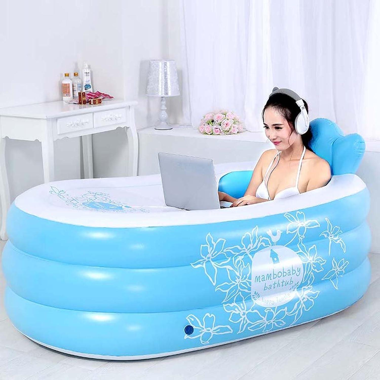 Folding Inflatable Bathtub, Adult Household Plastic Bucket Folding Bathtub Massage Double Baby Bathtub