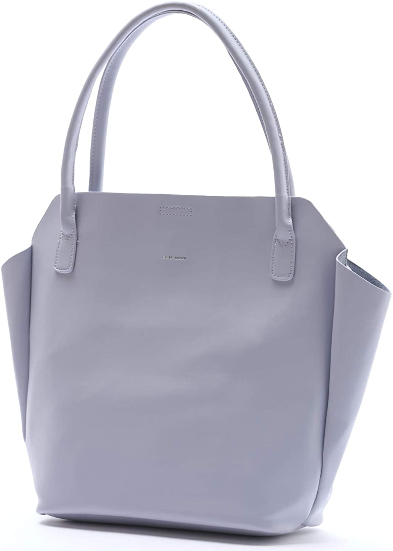 Rachel Small Lightweight Soft Lavender 20 x 13 Vegan Leather Tote Handbag