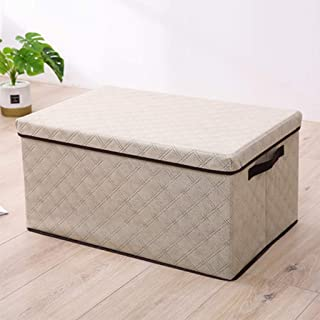 PPCP Storage Box Non-Woven Diamond Shaped Storage Box Foldable Storage Box (Color : Beige)