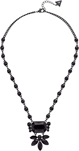 GUESS - Clustered Stone Statement Necklace