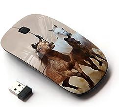 KawaiiMouse [ Optical 2.4G Wireless Mouse ] Horses Galloping Mustang Brown Fur