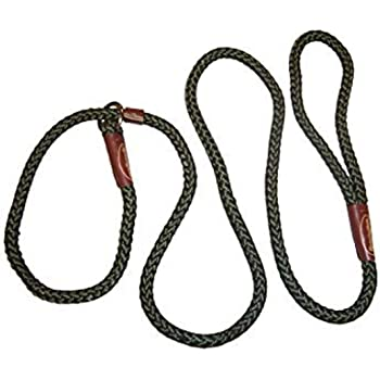 Nylon Remington Rope Slip Dog Leash/Collar Combo, 6-Feet
