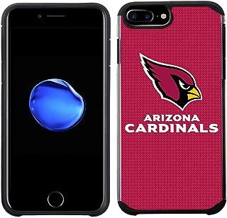 Prime Brands Group 手机壳适用于苹果 iPhone 8 Plus/iPhone 7 Plus/iPhone 6S Plus/iPhone 6 Plus - NFL *亚利桑那红雀队纹理纯色