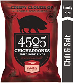4505 Classic Chili & Salt Pork Rinds, Certified Keto, Humanely Raised, Family Size Bag, 7oz