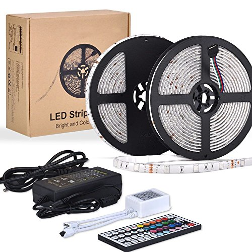 10M LED TV Retroilluminazione RGB Striscia, ESEYE 5050 Autoadesiva LED Strisce Impermeabile Flessibile/Accorciabile/Divisibile/Collegabile Nastri Led 24W 10 Metri di Luci Colorate Decorative Esterno