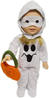Brittany's My Halloween Ghost Costume Compatible with Glitter Girl Dolls, Hearts 4 Hearts Dolls and Wellie Wishers