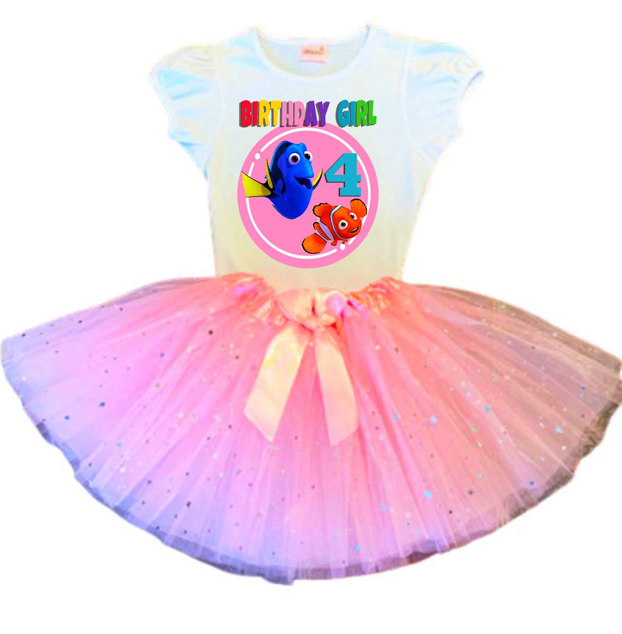Dory outlet and Nemo Birthday Tutu Party O Attention brand 4th Pink Dress