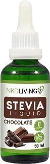 NKD Living Stevia Liquid Drops 50ml - Natural Chocolate Stevia - with glass dropper