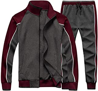Men's Tracksuits Sweat Suit Casual Long Sleeve 2 Piece Outfit Sports Jogging Suits Set
