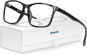 Oiamik Blue Light Blocking Women/Men Computer Glasses with UV400,Lightweight Eyeglasses Frame Gaming Glasses,Anti Eye Strain, Headache, Depression