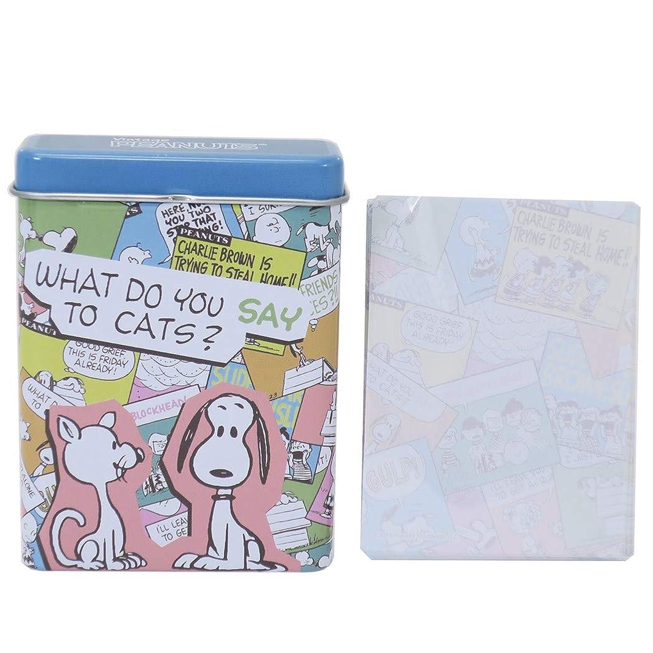 シンプルな時系列お母さんスヌーピー[メモ帳]缶ケース入り メモ/スヌーピー&ファーロン ピーナッツ