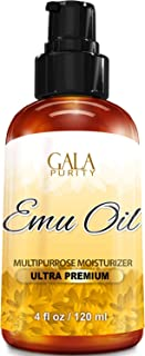 Gala Purity Emu Oil – Large 4oz – Best Natural Oil for Face, Skin, Hair..