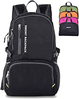 SMONT Lightweight Packable Hiking Backpack Foldable Daypack for Traveling Camping