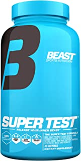 Beast Sports Nutrition � Super Test Caps � Supports Natural Testosterone Levels � Clinically Proven KSM-66 � Maximizes Strength & Muscle Mass � Enhances Libido � Supports Liver & Kidney � 180 Capsules