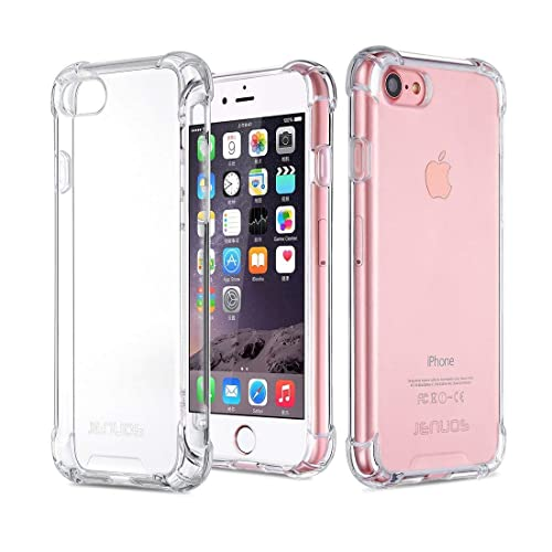 Jenuos I7-TPU-CL Clear Case Soft Silicon Shockproof Bumper Phone Cover for  Apple 3ecf5056a