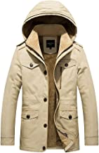 Thicken Cotton Coat,Men Winter Pure Color Thickening Jacket Coat Outwear