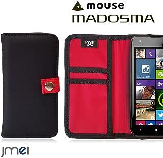 MADOSMA Q501 カバー JMEIオリジナルMA-1手帳ケース GAEA ブラック マドスマ mouse computer マウスコンピューター simフリー スマホカバー スマホケース 手帳型 ケース ショルダー 耐衝撃 スマートフォン カードホルダー