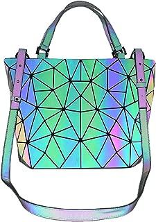 Folding bag Geometric handbag Luminous women bag Purses and Handbags for Women Holographic Flash Reflactive Tote for Women