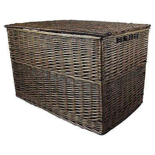 Wovenhill Bronze Wicker Extra Large Storage Trunk Hamper W92 x D53 x H60cm