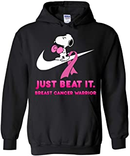 Just Beat It Breast Cancer Warrior Snoopy Hoodie