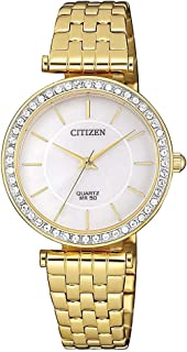 Citizen Analog White Dial Women's Watch-ER0212-50D