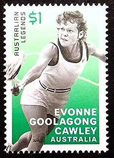 Evonne Goolagong Cawley, Australian Legends, Tennis -Handmade Framed Postage Stamp Art 21823AM