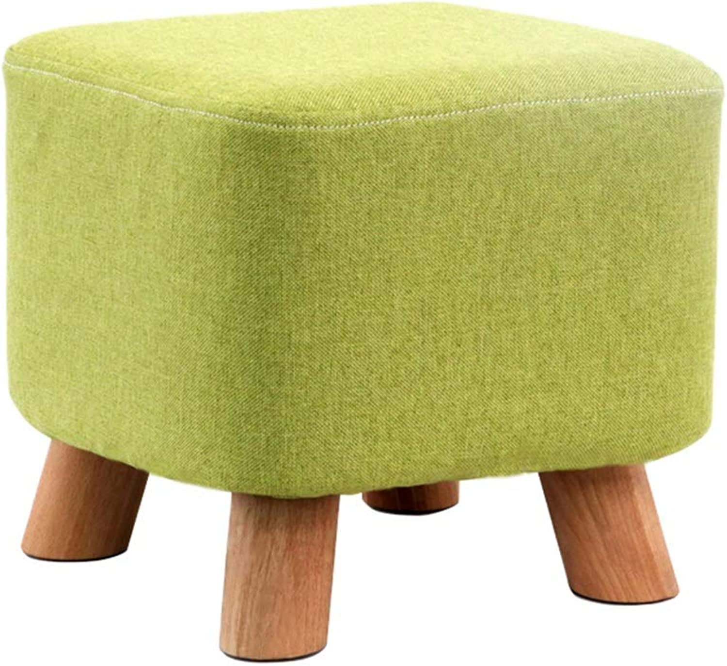 Small Stool Household Wood Stools Fashion Creative Sofa Stools 2 colors Optional (color   Green)