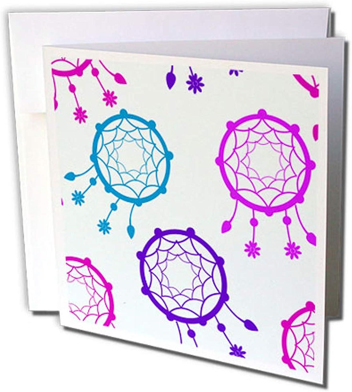 3dRosa gc_254138_2 Grußkarten Bunter Traumfänger  in Blau Blau Blau und Lila, 12 Stück B0764MPZJ9 | Zu einem niedrigeren Preis  b885d5