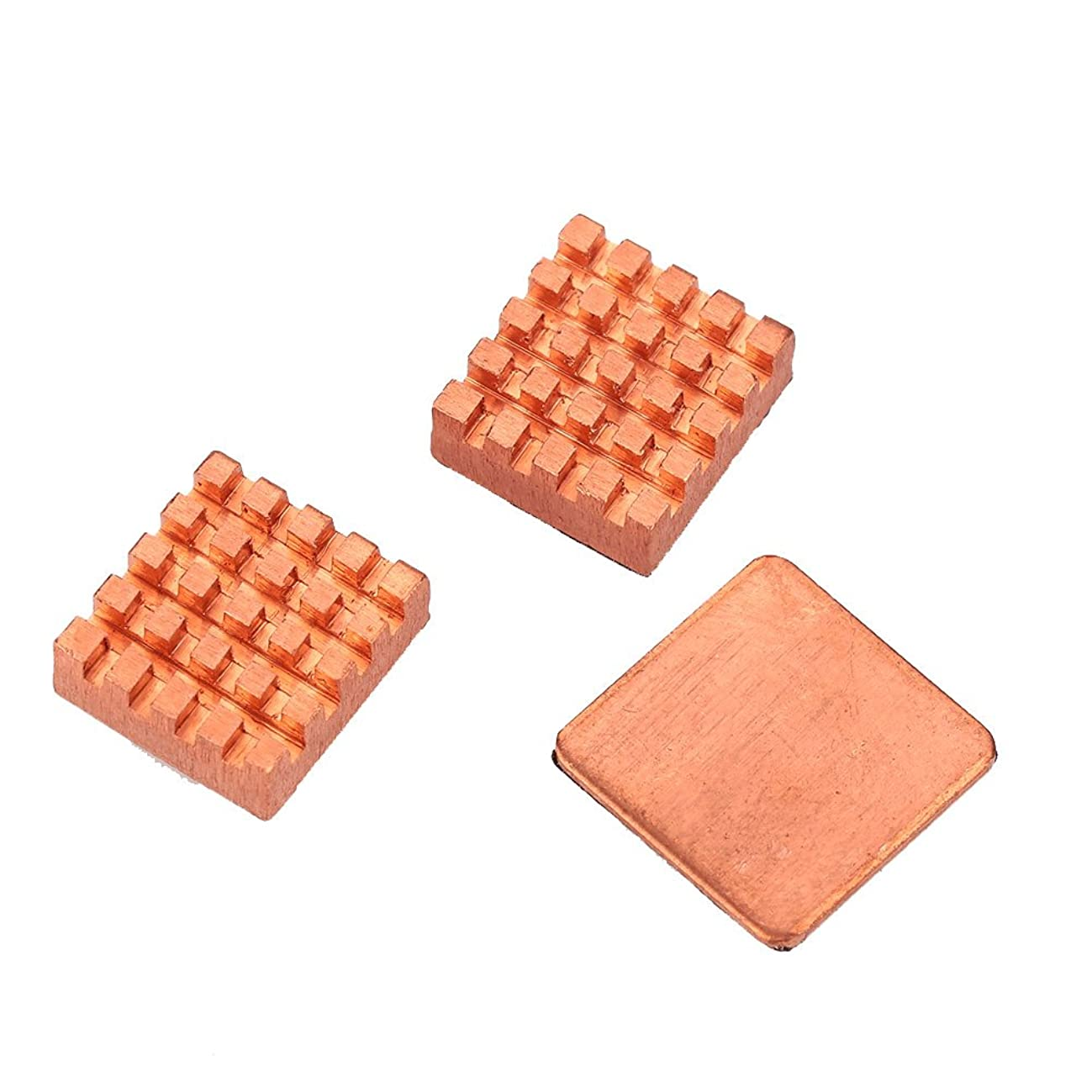 Shenlian 3 Pcs Copper Heatsink with Thermal Conductive Adhesive Tape Ready-to-Use New 3Pcs Pure Copper Slice Heat Sinks Cooler Kit for Raspberry